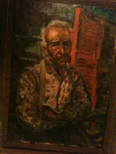 Old Man oil painting Clare