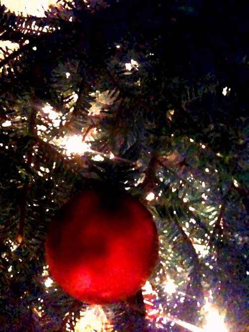 painted christmas ball