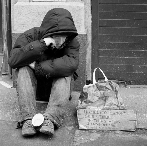 homeless man by Sam