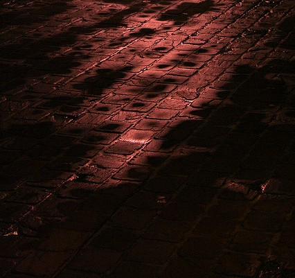 bloodied cobblestones