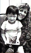 Leslie and child