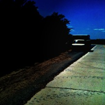the road behind
