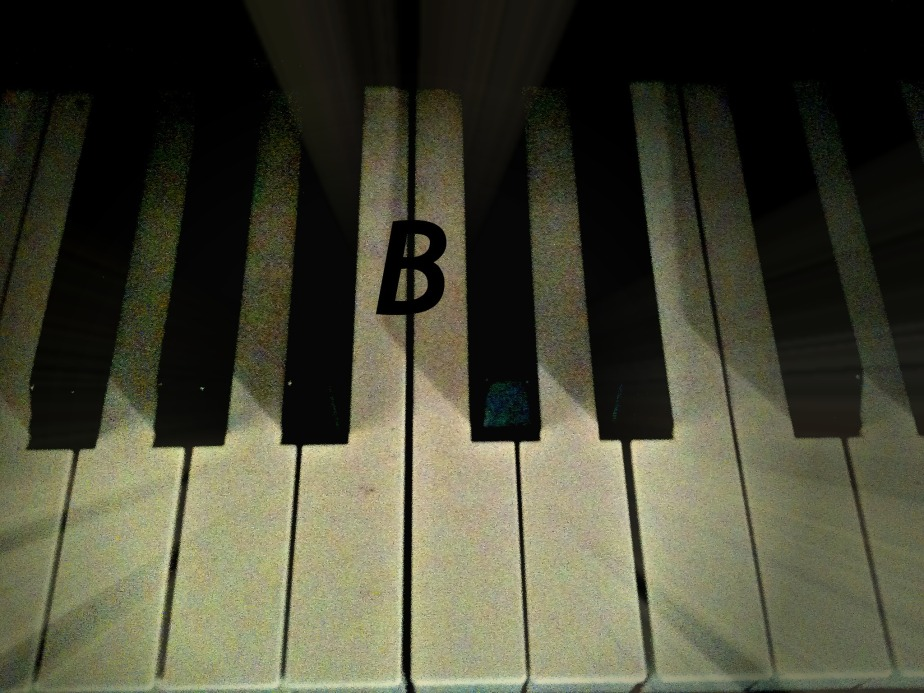 key of B