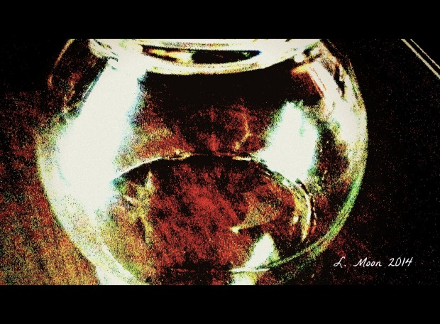 under glass
