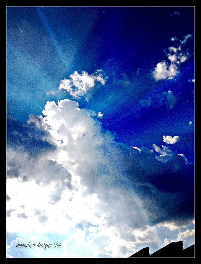 breaking through clouds