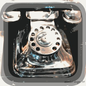 silver phone
