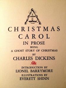 christmas carol title page