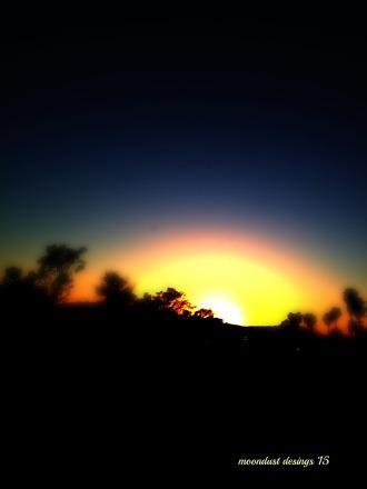 horizon dusk