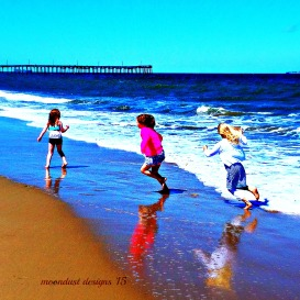 girls in the sea
