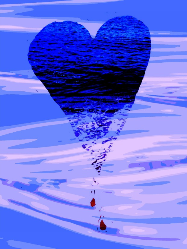 heart in water