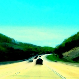 on the freeway