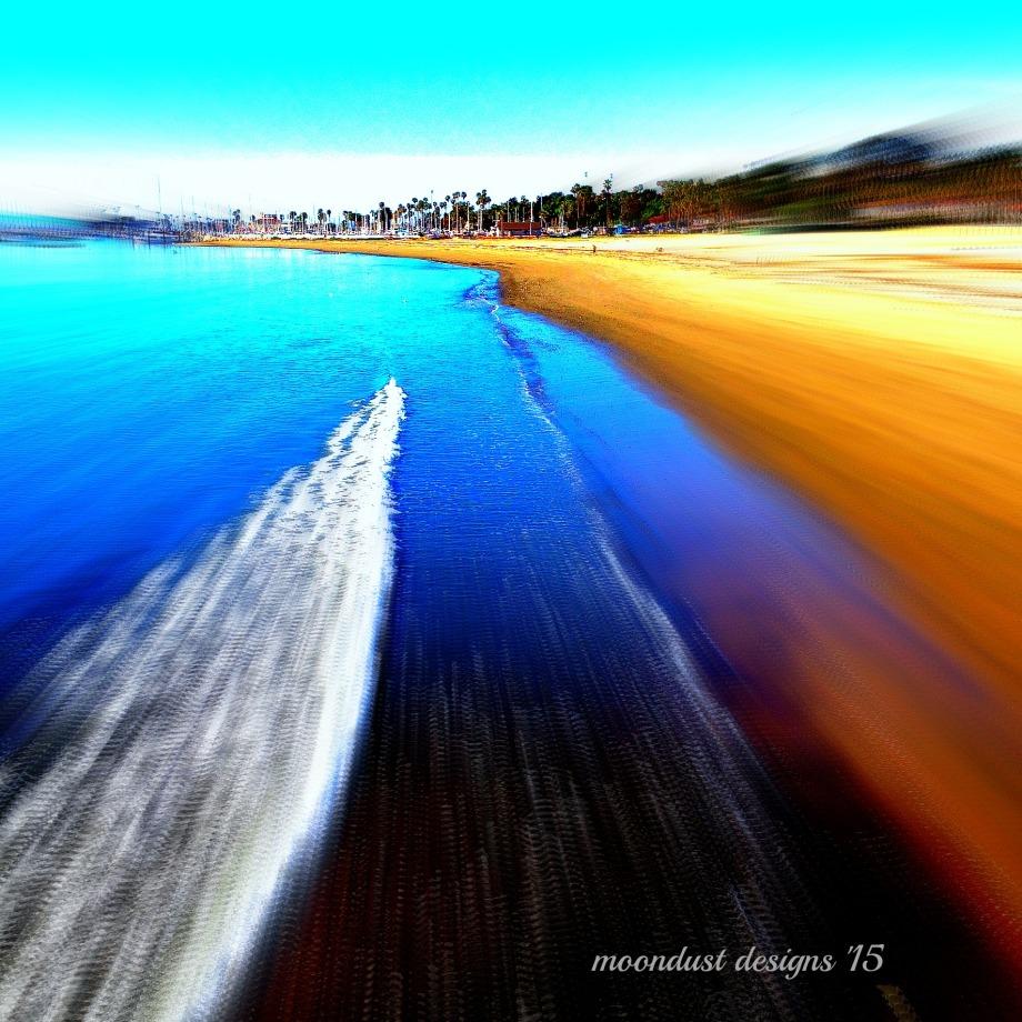 low tide in Santa Barbara