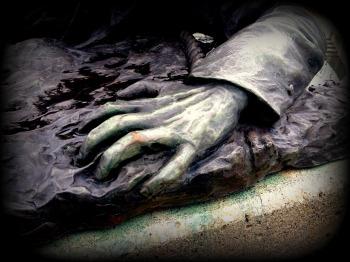 soldier's hand