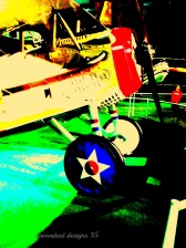 red white blue airplane