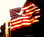 shattered flag