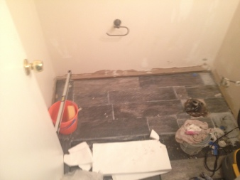 Tiling bathroom