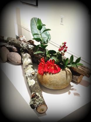 ikebana exhibit