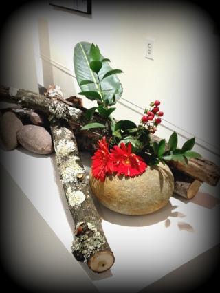 ikebana exhibit