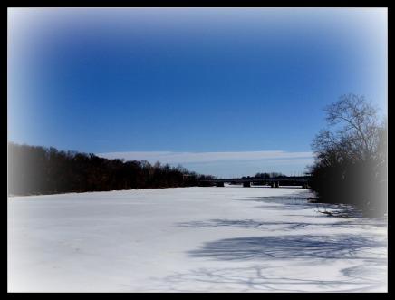 frozen river