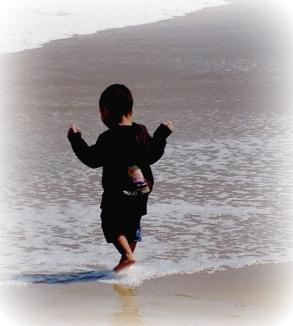 boy in surf