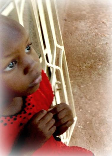 little girl in red