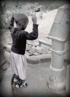 girl at water