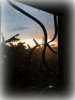 sunset from the corner windo